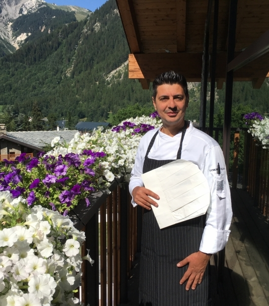Chef of the Grand Hotel Courmayeur Mont Blanc