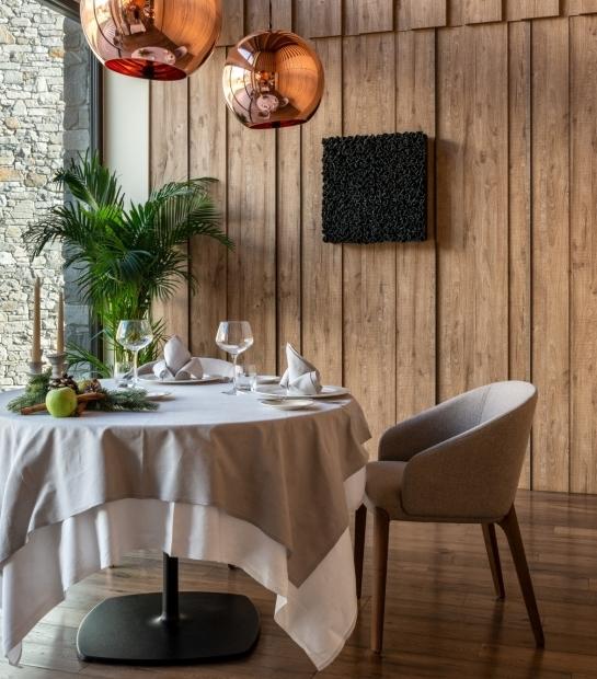 Interior of La Fourchette Restaurant